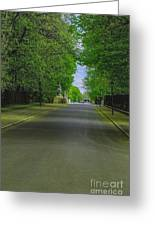 The Road On A Border Of Royal Park Greeting Card