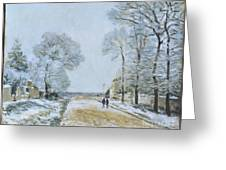 The Road, Snow Effect Greeting Card