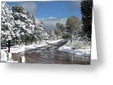 The Road Through Winter Greeting Card