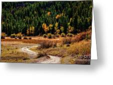 The Road To Fall Greeting Card