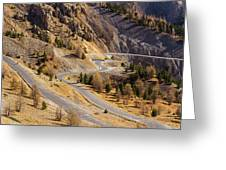 The Road To Izoard Pass - 2 - French Alps Greeting Card