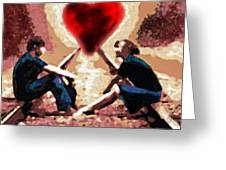 The Road To Love #0007 Greeting Card