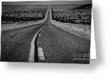 The Road To Shoshone Greeting Card