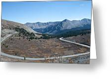 The Road To The Continental Divide Greeting Card