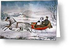 The Road-winter, 1853 Greeting Card