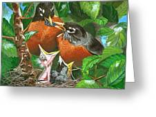 The Robins Greeting Card