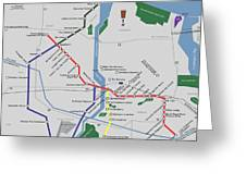 The Rochester Pubway Map Greeting Card