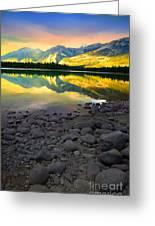 The Rockies Reflected At Lake Annettee Greeting Card