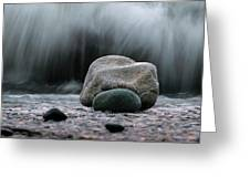 The Rocks At The End Of Hastie Road Greeting Card