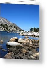 The Rocks Of Treasure Lake Greeting Card