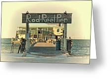 The Rod And Reel Pier Vintage   Greeting Card