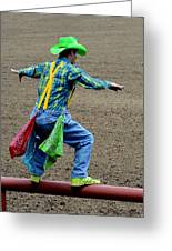The Rodeo Clown Greeting Card