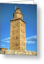 The Roman Lighthouse Known As Tower Of Hercules Greeting Card