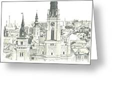 The Roofs Of Novi Sad Greeting Card
