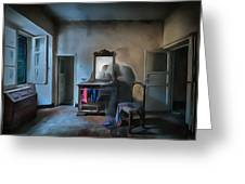 The Room Of The Castle Of The Phantom Of The Mirror Paint Greeting Card