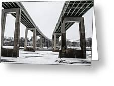 The Roosevelt Expressway Bridges Greeting Card