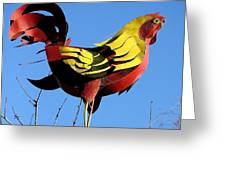 The Rooster . Square . 40d4622 Greeting Card