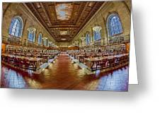 The Rose Main Reading Room Nypl Greeting Card