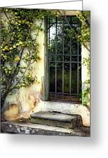 The Rose Vined Door Greeting Card by Lynn Andrews