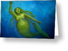 The Rotund Mermaid Greeting Card