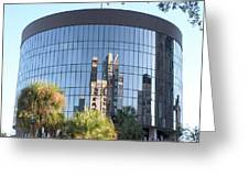 The Round Building In Orlando Greeting Card
