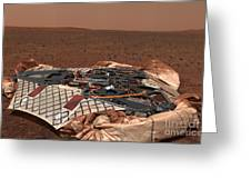 The Rovers Landing Site, The Columbia Greeting Card by Stocktrek Images