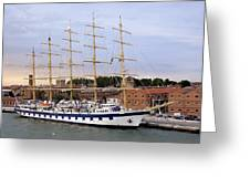 The Royal Clipper Docked In Venice Italy Greeting Card