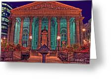 The Royal Exchange In The City London Greeting Card