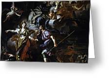 The Royal Hunt Of Dido And Aeneas Greeting Card
