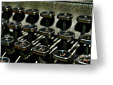 The Royal Typewriter Greeting Card