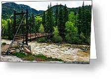 The Rushing Animas River - Colorado Greeting Card