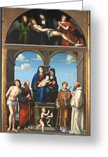 The Saint Anne Altarpiece From San Frediano Lucca Greeting Card