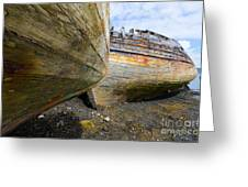 The Salen Wrecks Greeting Card
