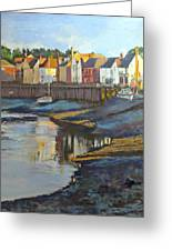 The Saltwater Village Evening Greeting Card