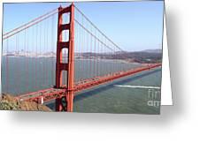 The San Francisco Golden Gate Bridge 7d14507 Panoramic Greeting Card