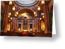 The Sanctuary Of Saint Matthew's Cathedral Greeting Card