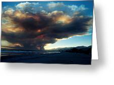 The Santa Barbara Fire Greeting Card