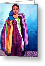 The Scarf Seller Greeting Card