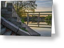 The Schuylkill Steps - East Falls - Philadelphia Greeting Card