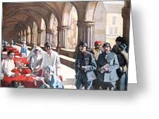 The Scottish Women's Hospital - In The Cloister Of The Abbaye At Royaumont. Greeting Card