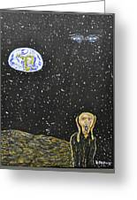 The Scream And Planets  Greeting Card