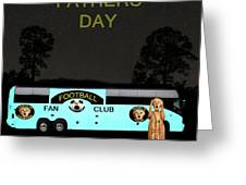 The Scream World Tour Football Tour Bus Fathers Day Greeting Card