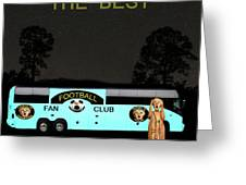 The Scream World Tour Football Tour Bus Simply The Best Greeting Card