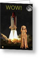 The Scream World Tour Space Shuttle Wow Greeting Card by Eric Kempson