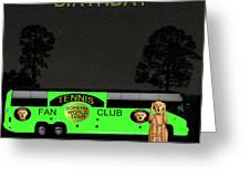 The Scream World Tour Tennis Tour Bus Happy Birthday Greeting Card by Eric Kempson