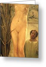 The Sculptor's Model Greeting Card