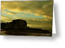 The Sea And The Rock Greeting Card