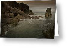 The Sea And The Rocks Greeting Card