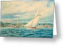 The Sea Approach To Kyrkviken Greeting Card
