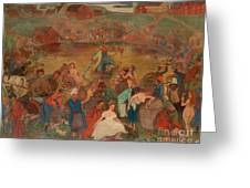 The Sea Of Bacchus Greeting Card